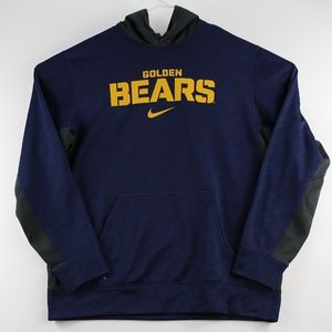 Nike Mens Hoodie Sweatshirt Large NCAA Cal Bears